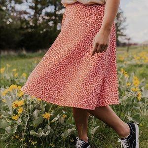 ROOLEE  Flower Midi Skirt